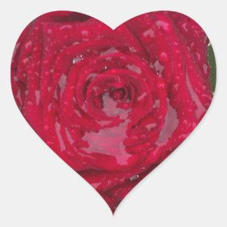 stickers heart flowers