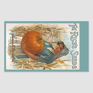 STICKERS Heirloom Antique Pumpkin Seeds Rices Seed
