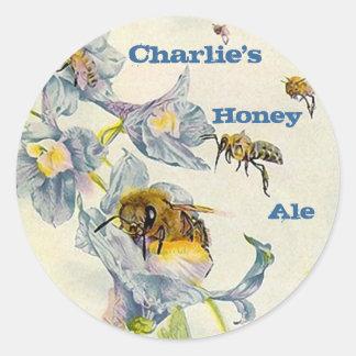 STICKERS HONEY Ale Homebrew Labeling Sticker weiss