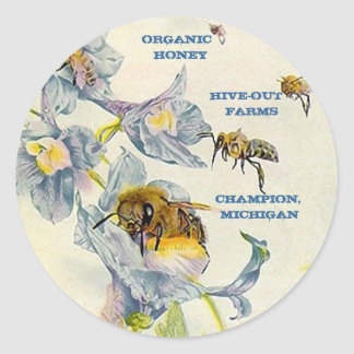 STICKERS HONEYBEE HONEY PRODUCERS PRODUCT MARKING