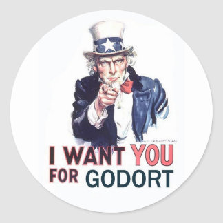 Stickers - I Want You for GODORT