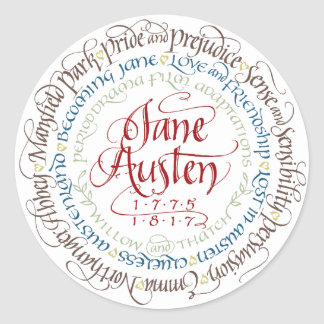 Stickers - Jane Austen Period Drama Adaptations