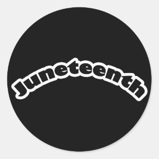 Stickers: Juneteenth Classic Round Sticker