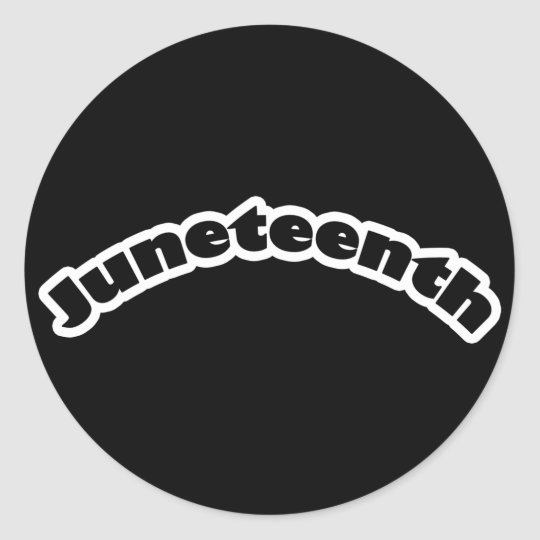 Stickers: Juneteenth Classic Round Sticker