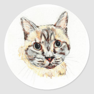 Stickers: Noble the Cat Round Sticker