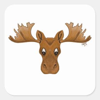 Stickers of moose,  cartoon drawing
