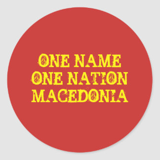 Stickers: One name, one nation - Macedonia Classic Round Sticker
