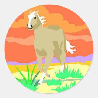 STICKERS--Palomino Sunset Classic Round Sticker