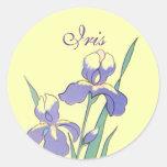 Stickers Round Dot Iris Personalized Custom Seals