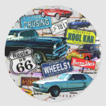 Stickers - Route 66_Classic Cars