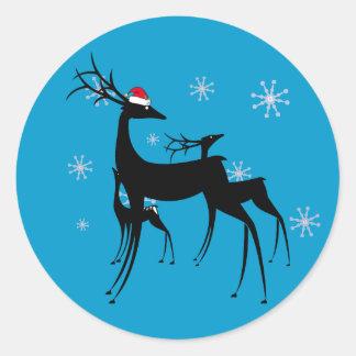 Stickers - Santa Reindeer