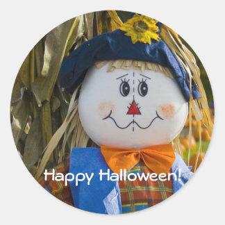 Stickers:  Scarecrow Round Sticker