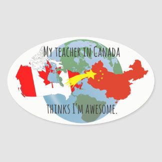 Stickers to Send to Student: Canada, Awesome