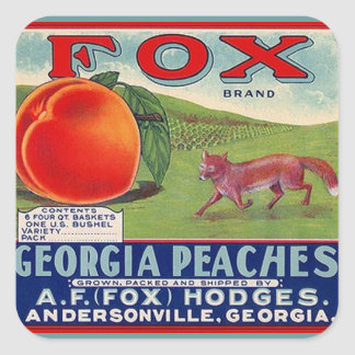 Stickers Vintage Advertising Fox Georgia Peaches