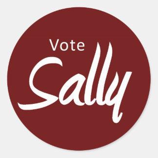stickers - vote Sally