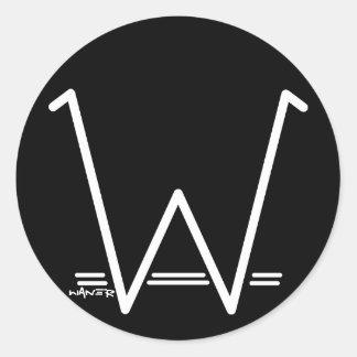 Stickers W WANER (white)