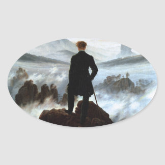 Stickers: Wanderer above the Sea of Fog