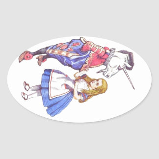 stickers with Alice in Wonderland design