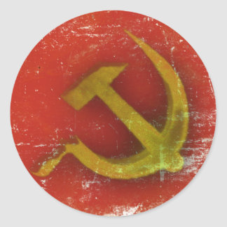 Stickers with Dirty Old Soviet Union Flag