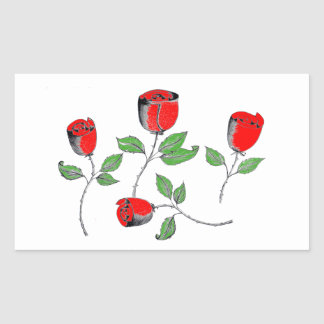 Stickers with Roses Art