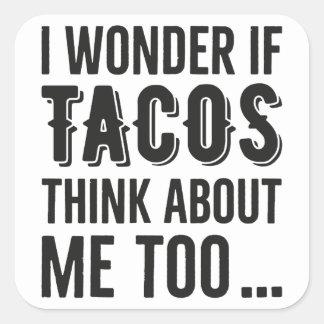 Stickers Wonder Tacos Thinking