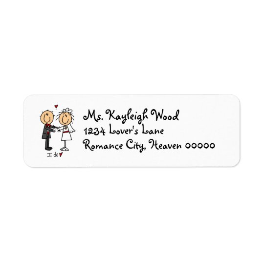 Stickfigure Bride & Groom