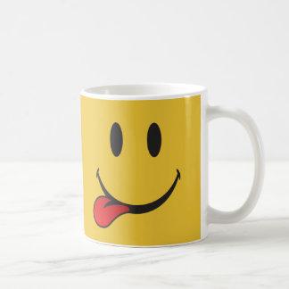Sticking out tongue Happy Face emoji Coffee Mug