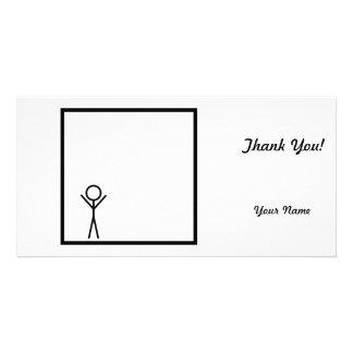Stickman Personalized Photo Card