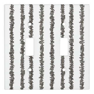 Sticks And Stones-Black and White Stripes Light Switch Cover