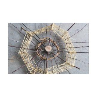 Sticks String &Vines Nature Art Sculpture Center Canvas Print