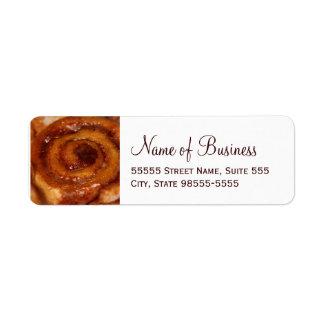 Sticky Bun Baked Goods Bakery Boutique Return Address Label