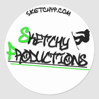 Sticky Classic Round Sticker