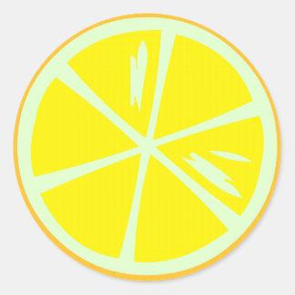 Sticky Lemon Classic Round Sticker