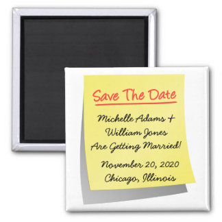 Sticky Note Save The Date Magnet