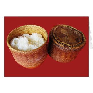 Sticky Rice [Khao Niao] Thai Lao Food Card