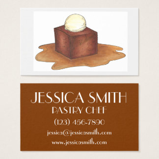 Sticky Toffee Pudding Dessert Food Pastry Chef Business Card