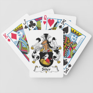 Stier Family Crest Bicycle Playing Cards