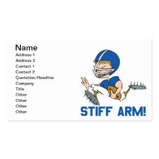 Stiff Arm Business Card Templates