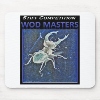 Stiff Competition Blue Stag Beetle Mouse Pad