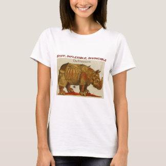Stiff, Inflexible, Invincible Rhinoceros T-Shirt