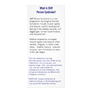 Stiff Person Syndrome Information Card
