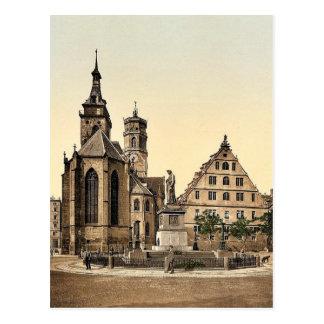 Stiftkirche, Stuttgart, Wurtemburg, Germany rare P Postcard
