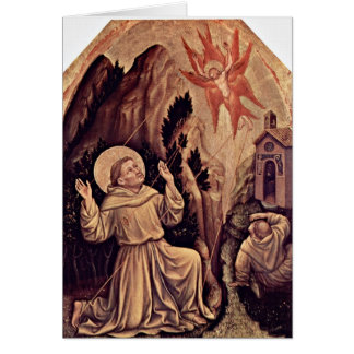 Stigmata Of St. Francis By Gentile Da Fabriano Greeting Cards