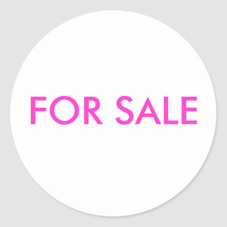 "STIKER ""FOR SALE"" ROUND STICKER"
