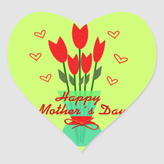 Stiker Heart to Mothers Day Heart Sticker