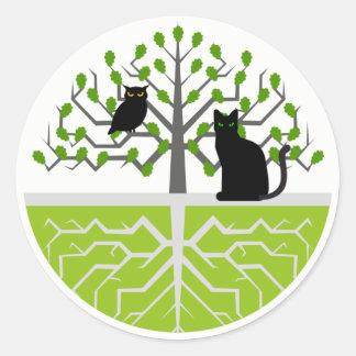 Stiker Kuzash Cats Classic Round Sticker