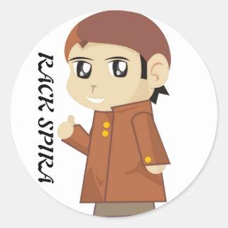 Stiker RACK SPIRA Round Sticker