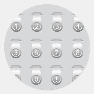 stikers set classic round sticker