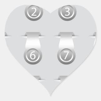 stikers set heart sticker
