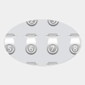 stikers set oval sticker